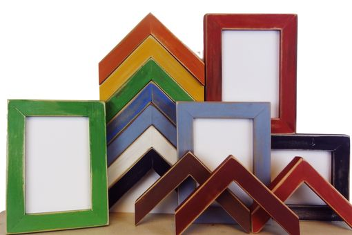 Custom Made Handmade Picture Frames - Hand Distressed Milk Paint Photo Frames