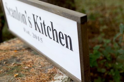 Custom Made Personalized Kitchen Sign | Established Sign | Rustic Decor