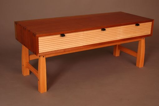 Custom Made Sapele Low Bench With Ebony Detail.