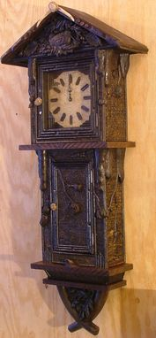 Custom Made Adirondack Rustic Carved Wall Clock