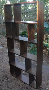 Custom Made Bookcase Or Room Divider Made From Solid Black Walnut