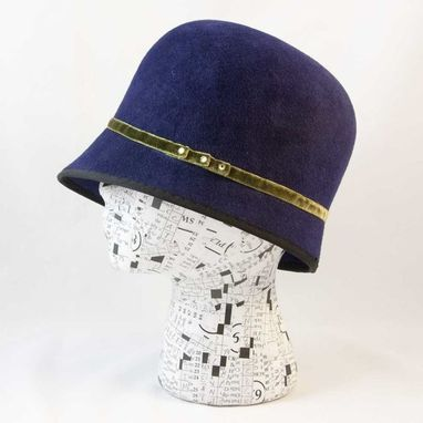 Custom Made Cloche Royal Blue Peekaboo Maeri