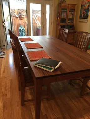 Custom Made Suzanne's 8 Foot Long African Mahogany Dining Table