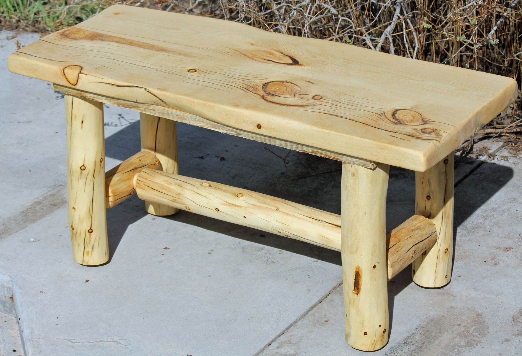 Hand Made Rustic Log End Tables Nightstands And Coffee Tables by