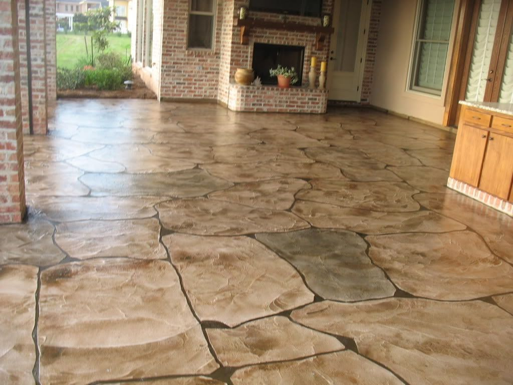 Custom Made Outdoor Kittchen Floor Project Bossier City Louisiana