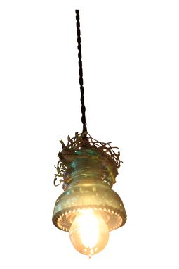 Custom Made Vintage Insulator Pendant Lights