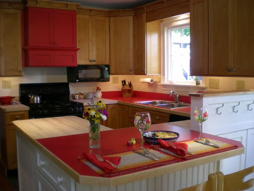 Custom Made Craftsman Kitchen-- In Maple And Painted Finish
