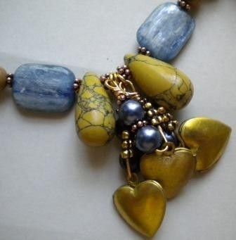 Custom Made Magnesite And Kyanite Necklace