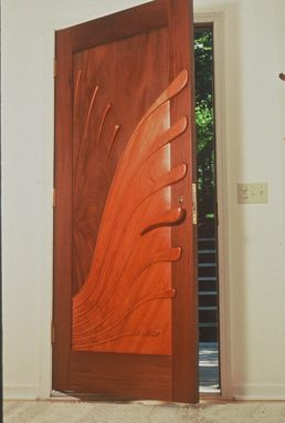 Custom Made Carved Entry Door