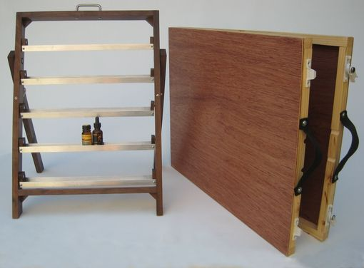 Custom Made Traveling Perfumer's Organ For Essential Oils, Perfumes, Tinctures For Trade Shows, And Markets.