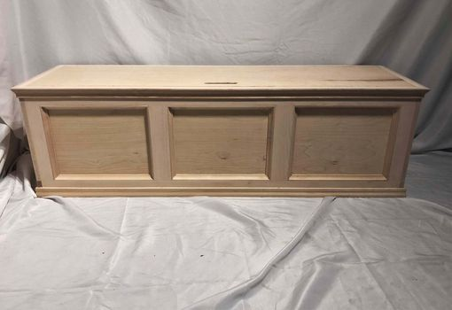 Custom Made Flip-Top Window Bench W/ Storage - Maple (Unfinished - Stain Grade)