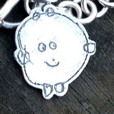 "Custom Made Sterling Silver Charm From ""Sterling Memories'' Collection"