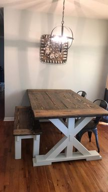 Custom Made Rustic Farmhouse Style Table