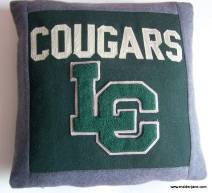 Custom Made Memory Pillow From Vintage Varsity Jacket