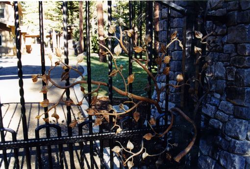 Custom Made Cattail & Reed Estates Entry Gates & Fencing
