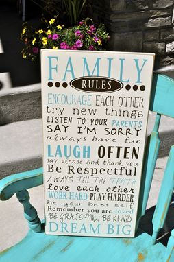 Custom Made Family Rules Wood Board