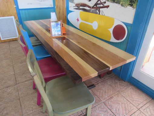 Custom Made Custom Multi-Species, Multi Color Table Tops, Solid American Hardwoods, Locally Sourced Locally Made