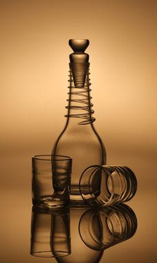 Custom Made Decanter And Glass Sets - Hand-Blown Glass