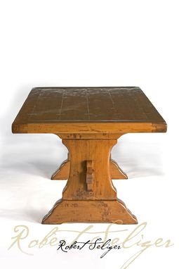Custom Made Dining Table Trestle Base By Robert Seliger