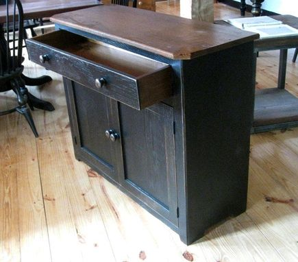 Custom Made Black Reclaimed Old Oak Cabinet