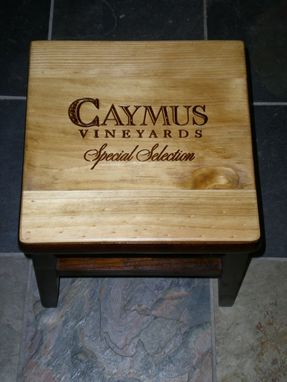 Custom Made Caymus Special Selection Wine Crate Stepping Stool