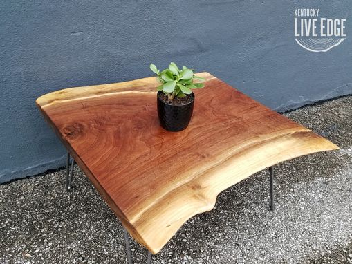 Custom Made Live Edge Walnut Coffee Table- Dark Wood- Natural Edges- Live Edge Slab Table- Rustic- Modern