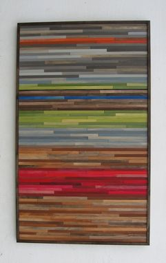 Custom Made Abstract Landscape Wood Wall Art