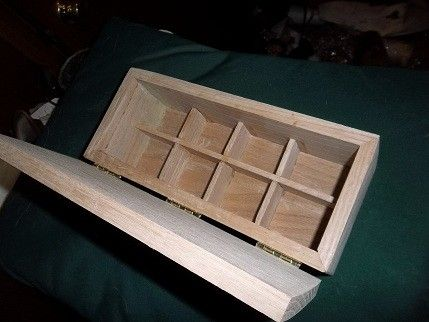 Custom Made A Solid Oak Unfinished Cufflink Box