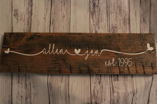 Custom Made Personalized Wood Sign