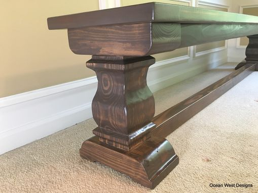 "Custom Made ""Savannah"" French Trestle Bench"