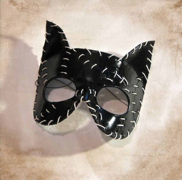 custom made leather catwoman mask