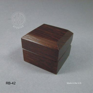 Custom Made Handcrafted Wood Ring Box.  Rb42  Free Shipping.