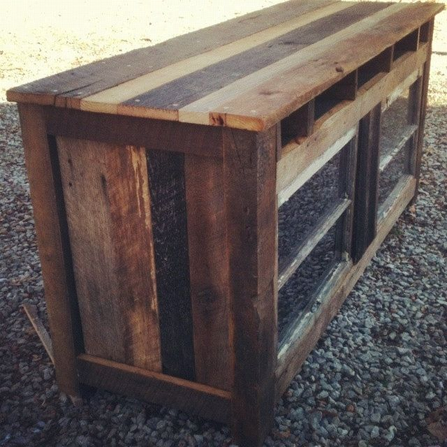 Custom Made Barnwood Entertainment Center
