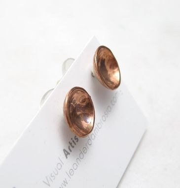 Custom Made Cup Studs - Copper Dome Earrings - Inverted Copper Earrings - Post Earrings - Vessel Earring