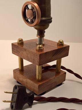 Custom Made Nostalgic Steampunk Edison Lamp With Dimmer
