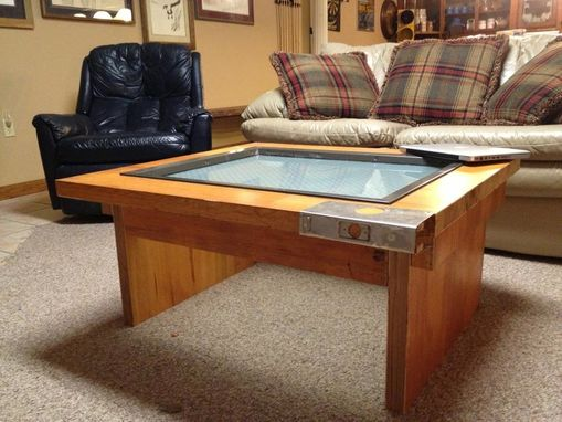 Custom Made Reclaimed Door Coffee Table