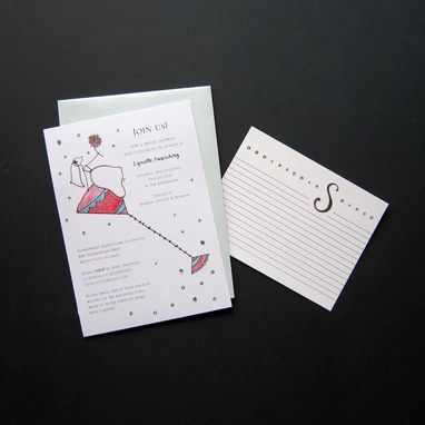 Custom Made Custom Bachelorette Party Invitations + Coordinating Recipe Cards