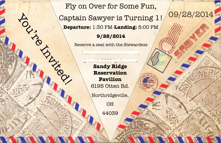 Buy a handmade paper airplane birthday invitation made to order custom made paper airplane birthday invitation filmwisefo