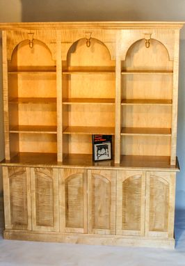 Custom Made Tiger Maple Bookcase.