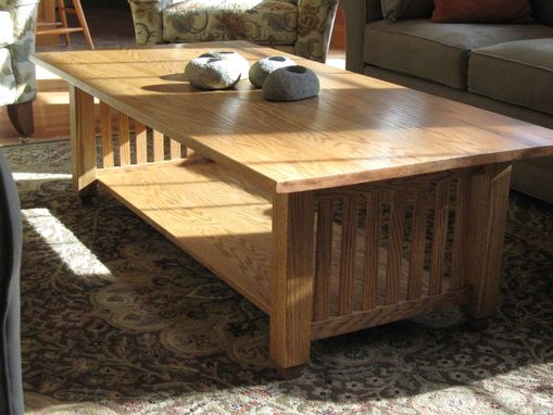Custom Made Red Oak Mission Coffee Table