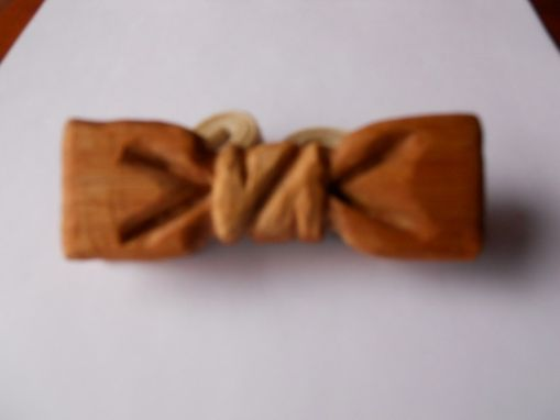 Custom Made Bow Tie - Classic Solid Light Bamboo