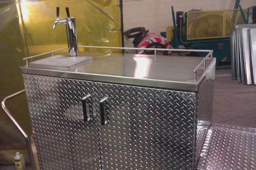 Custom Made Custom Stainless And Aluminum Bar / Keg-Fridge