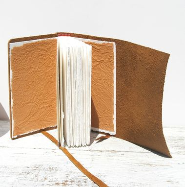 Custom Made Leather Bound Journal Handmade Paper Southwest Diary Travel Adventure Art Notebook