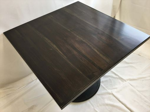 Custom Made Black Walnut Pedestal Table