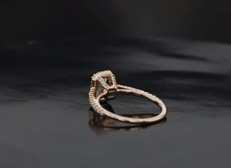 Custom Made Elegant Micropave Halo