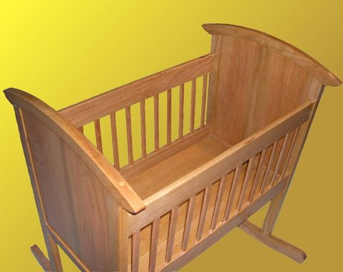 Custom Made Handcrafted Cherry Cradle