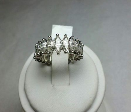 Custom Made Platinum Eternity Graduated Marquise Diamonds