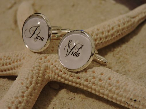Custom Made Sterling Silver Plated 16mm Cufflinks