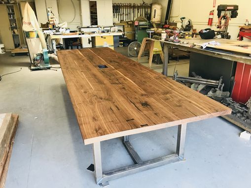 Custom Made Solid Walnut Conference Table