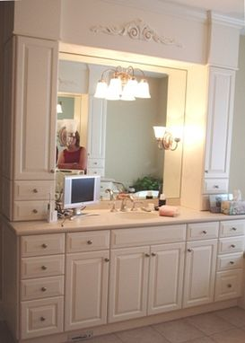 Custom Made Space-Saving Custom Bathroom Cabinetry